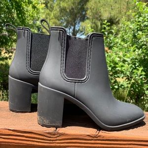 Jeffrey Campbell Black Rain boots booties